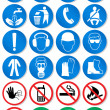 Vector set of different international communication signs. - Vettoriali Stock