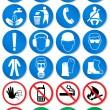 向量组的不同的国际通信标志 — 图库矢量图片