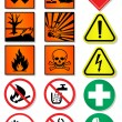 Vector set of international signs, laboratory associated. — Stock Vector