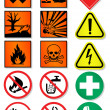 Vector set of international signs, laboratory associated. - Stock Vector