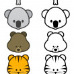 Vector illustration set of cartoon wild or zoo animals. — Stock Vector