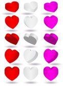 Vector illustration of three-dimensional heart shape. — Stock Vector