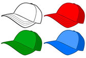 Baseball cap or hat vector template design. — Stock Vector