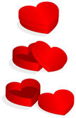 Vector illustration of heart shaped valentine box. — Stock Vector