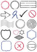 Stamp vector illustration set. — Stock Vector