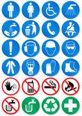 Vector conjunto de sinais diferentes de comunicação internacional. — Vetorial Stock
