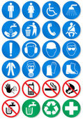 Vector set of different international communication signs. — Vecteur