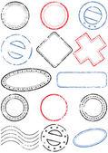 Postage stamp vector illustration set. — Stock Vector