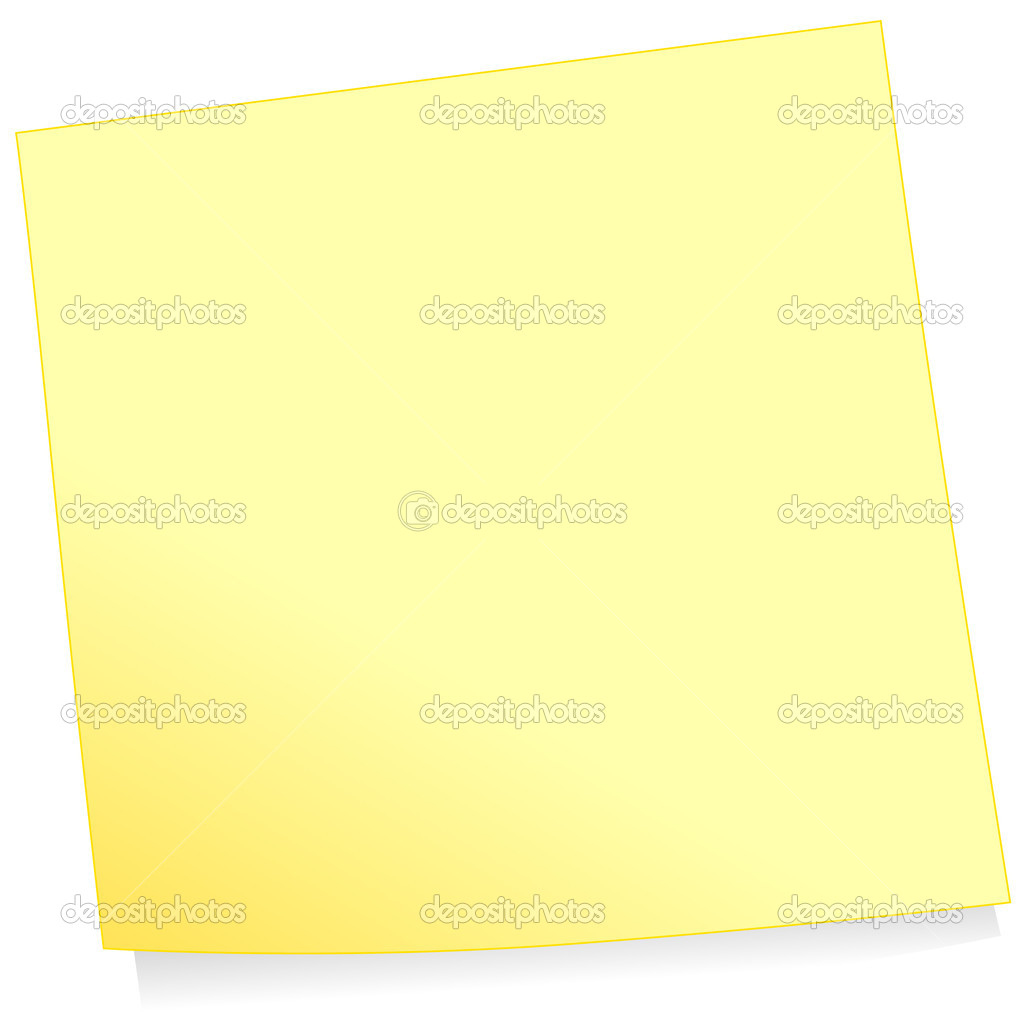 Vector illustration of a post it (note paper). Colors and transparent background color are easy to adjust. — Stock Vector #3530586
