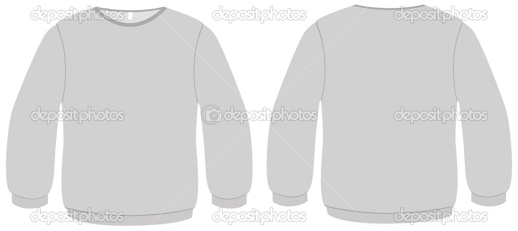 template vector illustration of a blank basic sweater all objects are