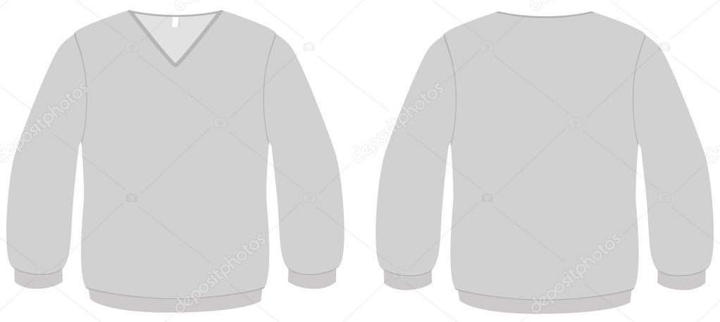 template vector illustration of a blank sweater with v neck all