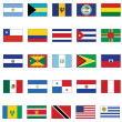 Vector flag set of all American countries. — Vecteur