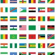 Vector flag set of all African countries. — Stock Vector