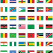 Stock Vector: Vector flag set of all Africcountries.