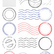 Vector set of different postmark and stamps. - Grafika wektorowa