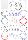 Vector set of different postmark and stamps. — Cтоковый вектор