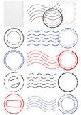 Vector set van verschillende postmark en stempels. — Stockvector