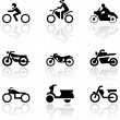 Royalty-Free Stock Vector Image: Motorbike symbol vector set.