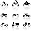 Motorbike symbol vector set. — Stock Vector #3703858