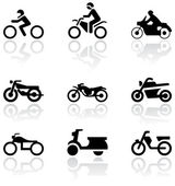 Motorbike symbol vector set. — Stock Vector