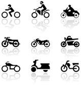 Motorbike symbol vector set. — Stock Vector