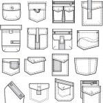 Set of pockets — ストックベクタ #3472266
