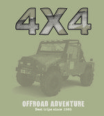 Off-road 4x4 car — Vecteur