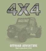 Tout terrain 4x4 voiture — Vecteur