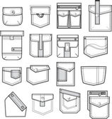 Set of pockets — Stock Vector