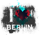 I love berlin — Stock Vector