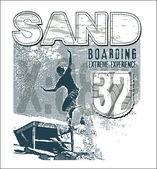 Sandboarding — Stock Photo
