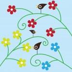 Three birds — Stock Vector