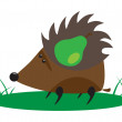 Hedgehog with pear — Stock Vector