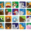Royalty-Free Stock Vector Image: Animals icon collection