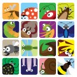 Royalty-Free Stock Vector Image: Insect icons set
