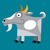 Billy goat cartoon — Stock Vector