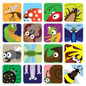 Insect icons set — Stock Vector