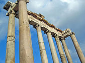 Temple of Saturn in Roman Forum — Stock Photo