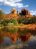 Red Rock Crossing, Oak Creek Canyon, Arizona — Stock Photo