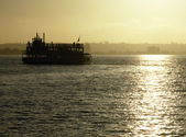 Ferry boat in San Diego Bay — Stock Photo