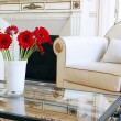 Stockfoto: Armchair and flowers
