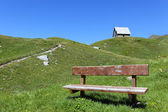 Mountain bench — Stock Photo