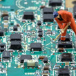Electronic industry — Stock Photo