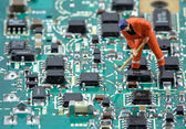 Electronic industry — Stock Photo