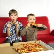 Hungry boys — Stock Photo
