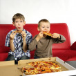 Foto Stock: Hungry boys