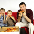 Stock Photo: Hungry family