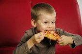 Hungry boy — Stock Photo