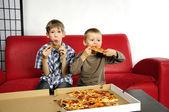 Hungry boys — Stock Photo