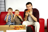 Hungry family — Stock Photo